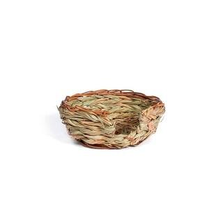 Prevue Pet Small Oval Pet Nest Woven Natural Grass - 1070