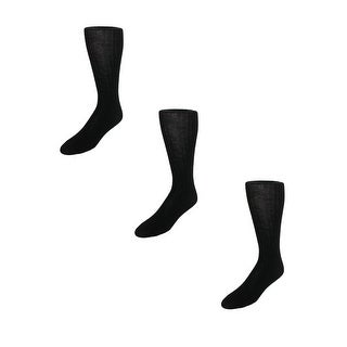 Garment Group Men's Merino Wool Mid Calf Dress Socks (Pack of 3) (2 options available)