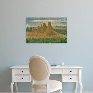 Easy Art Prints National Gallery of Art's 'Haystacks' Premium Canvas Art