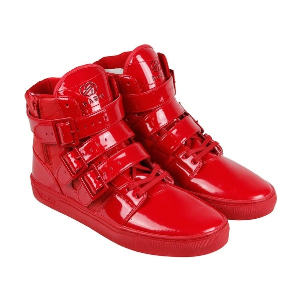 Radii Straight Jacket Mens Red Patent Leather High Top Sneakers Shoes