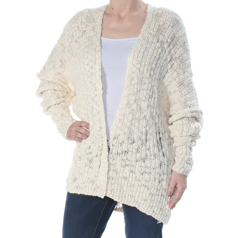 FREE PEOPLE Womens Ivory Open Cardigan Sweater Size: S
