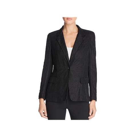 Donna Karan Womens One-Button Blazer Lace Night Out