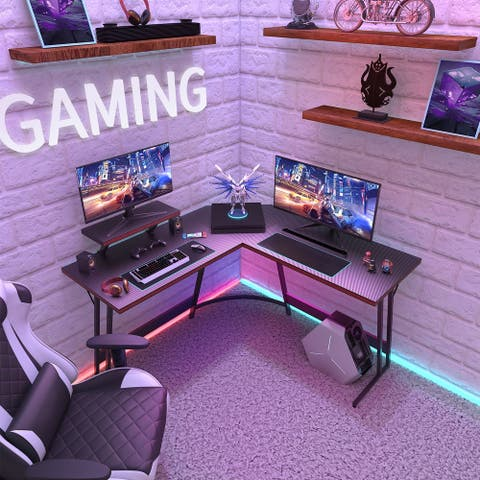 L-Shaped Gaming Desk Computer Corner Desk Office Writing Desk