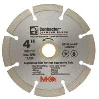 """MK Diamond 167011 Mk-99 Arbor Segmented Rim Diamond Blade, 4"""""""