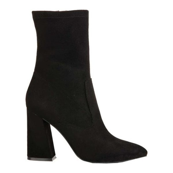 e9c4cda3636 Shop Kenneth Cole New York Women s Galla Bootie Black Leather - Free  Shipping Today - Overstock - 18188576