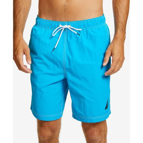 Nautica Mens Shorts Blue Size 2XL Board Surf Elastic Waist Stretch