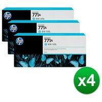 HP 771A 3-Cartridges 775-ml Light Cyan DesignJet Ink Cartridges (B6Y44A) (4-Pack)