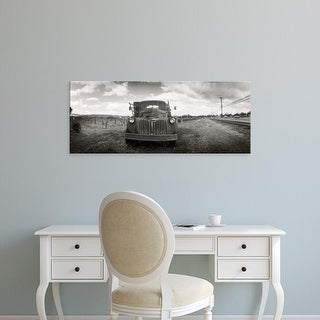 Easy Art Prints Panoramic Images's 'Old truck in a field, Napa Valley, California, USA' Premium Canvas Art