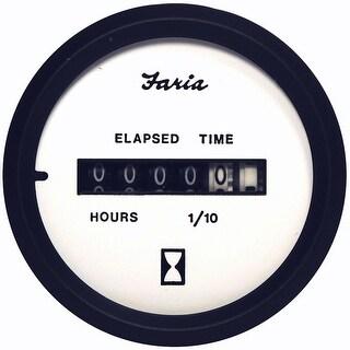 Faria Beede Faria Euro White 2 Hourmeter 10 000 Hrs 12 32vdc 12913
