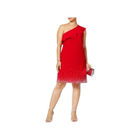 MSK Women Womens Plus Cocktail Dress Party Club Wear
