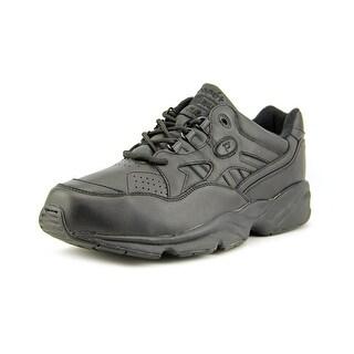 Propet Stability Walker Men 3E Round Toe Leather Black Walking Shoe