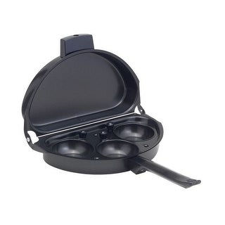 "HIC 43141 Deluxe Omelet Pan With Egg Poacher, Nonstick, 18"" x 9"" x 1-1/4"""
