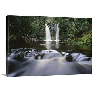 """Waterfall and river in forest"" Canvas Wall Art"