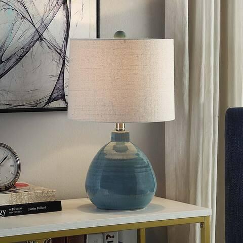 Porch & Den Sulphite Turquoise Ceramic Accent Table Lamp