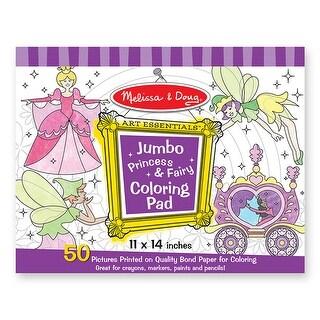 (6 Ea) Jumbo Coloring Pad Princess & Fairy