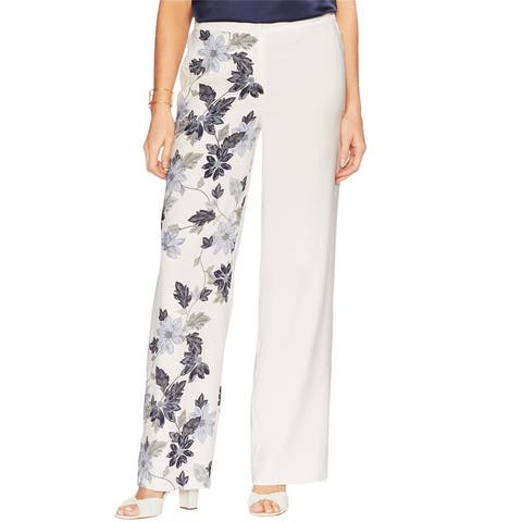 Vince Camuto Womens Cascading Casual Wide Leg Pants