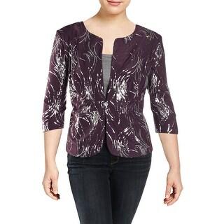 Alex Evenings Womens Plus Blazer Sequined Special Occasion - 22W