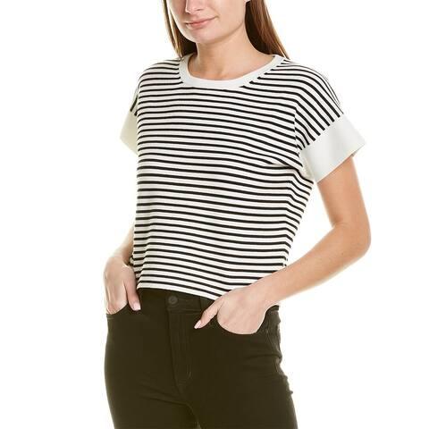 J.Crew Striped Boxy Crop Sweater