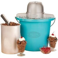 Nostalgia Electrics ICMP400BLUE Vintage Collection Ice Cream Maker, 110 Watt, 120 Volt