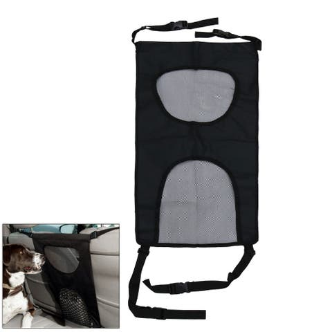 Universal Car Seat Pet Barrier Separation Isolation Net Fence Cover - Black