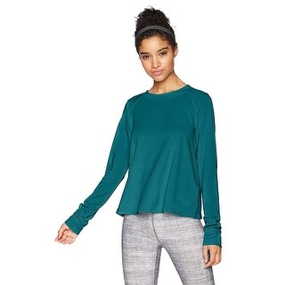 Under Armour Womens Modal Terry Crew Long Sleeve Shirt Teal X-Small - xs (2 - 3)