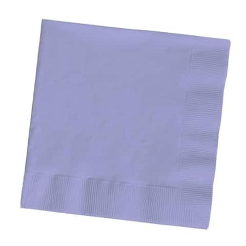 """Club Pack of 500 Luscious Lavender Premium 3-Ply Disposable Beverage Napkins 5"""" - N/A"""
