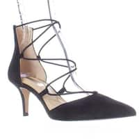 I35 Daree Lace-Up D'Orsay Pointed Toe Pumps , Black
