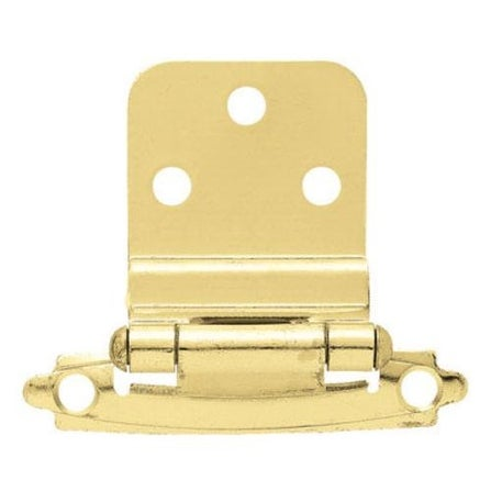 "Liberty Hardware H0104AL-PB-U Self-Closing Inset Hinge 3/8"", Polished Brass"