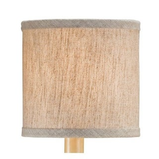 Currey and Company 0421 Large Natural Linen Shade, Measuring 5 x 5 x 5