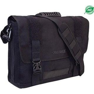 """Mobile Edge Men's 17.3"""" Eco Friendly Canvas Messenger Bag Black - US Men's One Size (Size None)"""