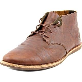 Timberland Chukka Boot Men Round Toe Leather Brown Chukka Boot