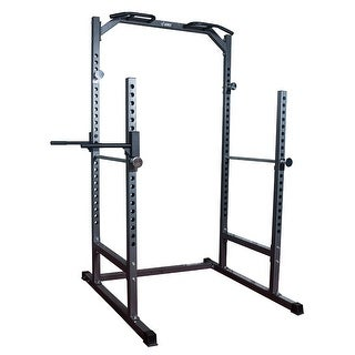AKONZA Half Power Cage Squat Dip Station Power Rack Pull Up Chin-Up Bench