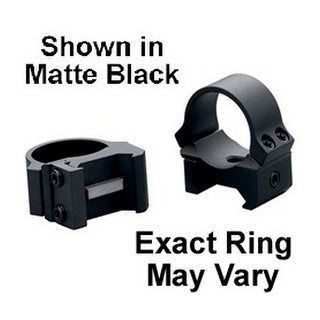 """Leupold 54144 Prw Mounting Rings (1.0"""", Steel , Low, Matte Black)"""