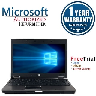 "Refurbished HP EliteBook 8440W 14"" Laptop Intel Core i5-520M 2.4G 4G DDR3 500G DVDRW Win 10 Pro 1 Year Warranty - Silver"