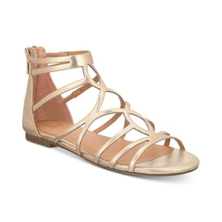 Material Girl Womens Sira Fabric Open Toe Casual Strappy Sandals