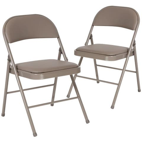 2PK Double Braced Vinyl Folding Chair - Commercial and Event Folding Chairs