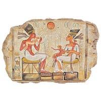 Design Toscano  King Akhenaton, Nefertiti and Daughters Stele Wall Sculpture
