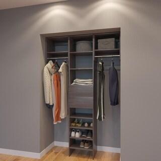 Modular Closets 4.5 FT Closet Organizer System   54 Inch   Style C