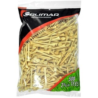 Orlimar 2 3/4-Inch Golf Tees 500-Pack (Natural)