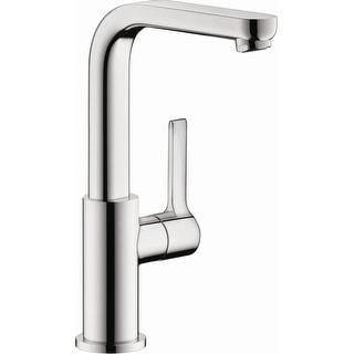 Hansgrohe 31161  Metris S 1.2 GPM Single Hole Bathroom Faucet with EcoRight, Quick Clean, and ComfortZone Technologies - Drain