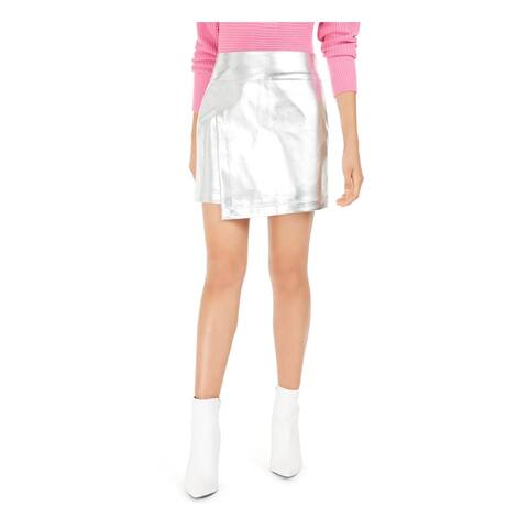 BAR III Womens Silver Mini Pencil Party Skirt Size 2XS
