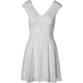 Aqua Womens Lace Double-V Casual Dress