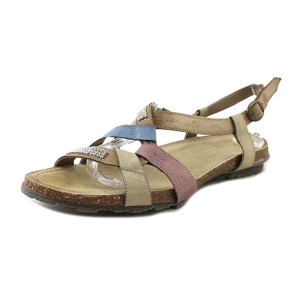 Napa Flex April Women Open-Toe Leather Tan Slingback Sandal