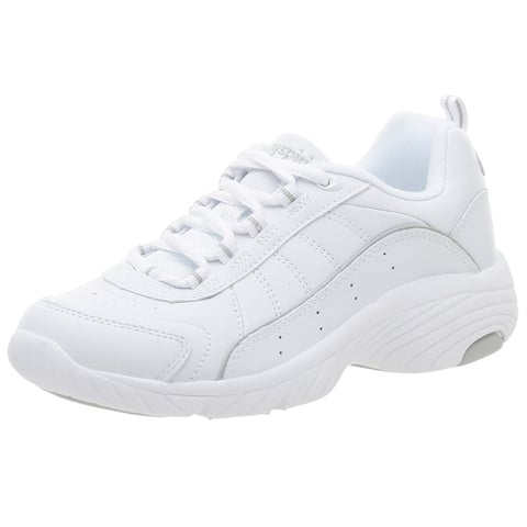 Easy Spirit Womens Punter Leather Low Top Lace Up Tennis Shoes