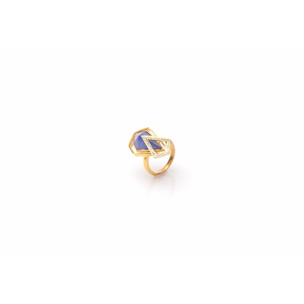 Promenade Ring in Blue- Size 7