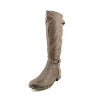 Hush Puppies Motive Round Toe Leather Mid Calf Boot