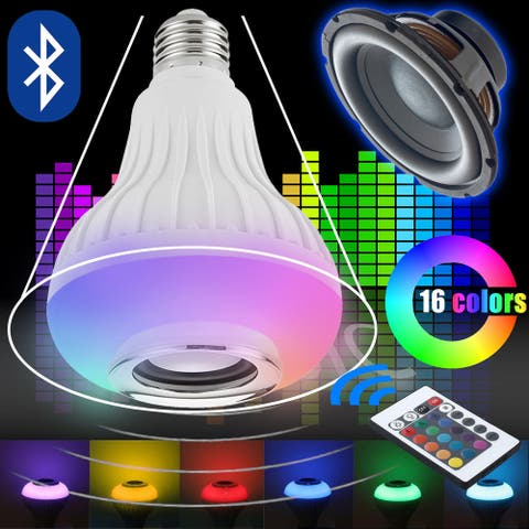 Kanstar LED RGB Color Bulb Light E27 Bluetooth Control Smart Music Audio