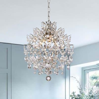 Dalia Indoor 3-light Champagne Crystal Chandelier