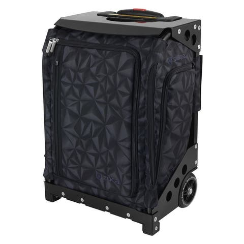 "Zuca Navigator Carry-On Bag with Built-In Seat, Strata Black Print (Black Frame) - 20.5"" x 14"" x 9.65"""