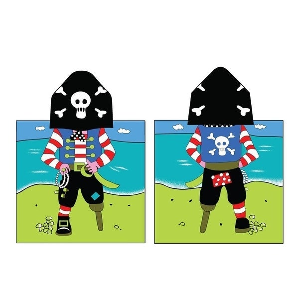Kreative Kids Boys Girls Pirate Cap Bath Towel One Size - One size